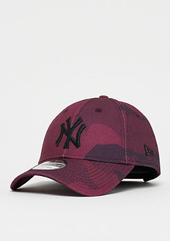 New Era 9Forty MLB New York Yankees Camo Color maroon camo/black