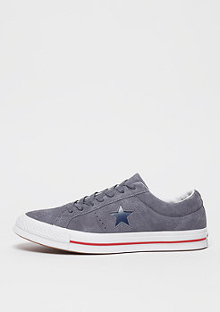Converse One Star Ox light carbon/gym red/white
