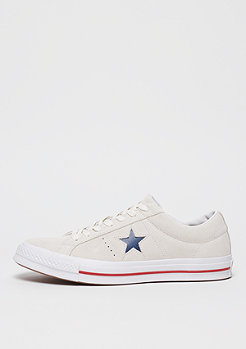 Converse One Star Ox vaporous gray/gym red/white