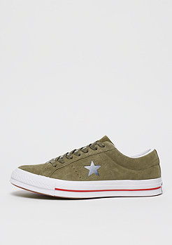 Converse One Star Ox medium olive/gym red/white