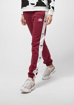 Umbro Umbro wmn Sweat Pant Side Logo burgundy/white