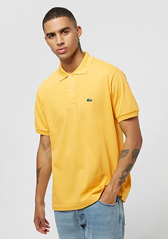Lacoste Men short sleeved ribbed collar shirt banana