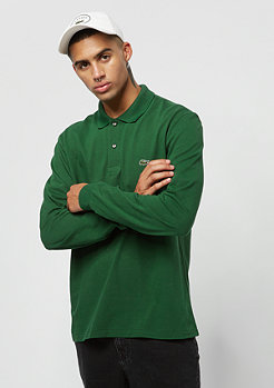Lacoste Long sleeved ribbed collar shirt green