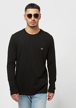 Lacoste Long sleeved Crew neck tee-shirt black