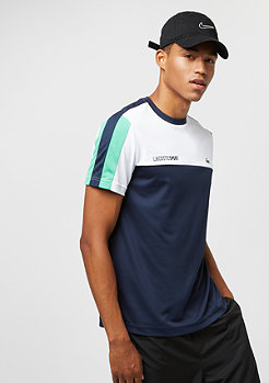 Lacoste Tee-Shirt Tennis white/navy blue-papeete