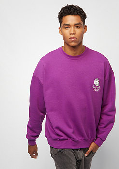 Cheap Monday Goal sweat Flex skull pink bluis