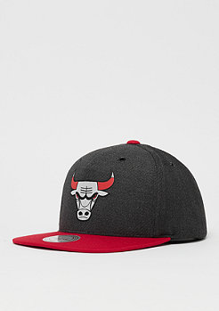 Mitchell & Ness NBA Chicago Bulls Woven Reflective Snap charcoal/red