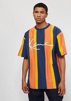 Karl Kani KK College Stripes Tee navy/orange/yellow