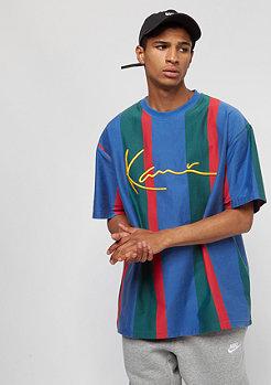 Karl Kani KK College Stripes Tee blue/green/red