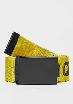 Urban Classics Jaquard Logo Belt black/ yellow/black