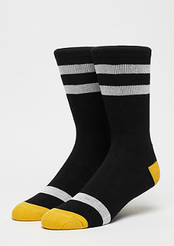 Urban Classics Multicolour Socks 2-Pack black/white/chromeyellow