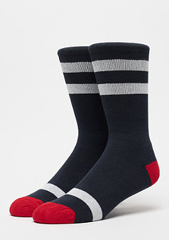 Urban Classics Multicolour Socks 2-Pack navy/white/firered