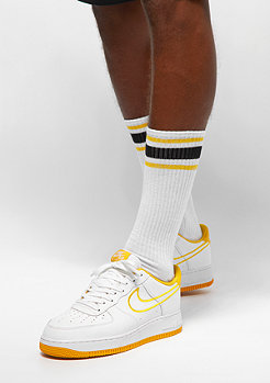 Urban Classics Long Stripe Socks 2-Pack white/chromeyellow/black