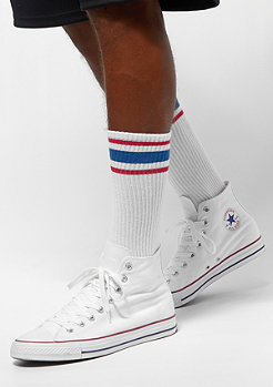 Urban Classics Long Stripe Socks 2-Pack white/firered/brightblue
