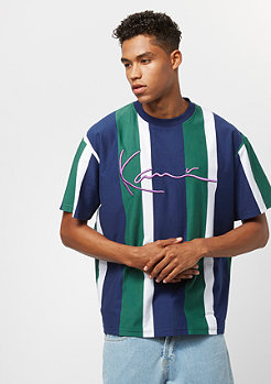 Karl Kani College Stripes blue/green/white