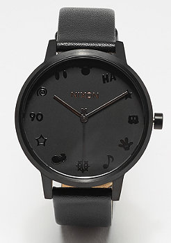 Nixon Kensington Leather All Black / Rose Gold / Mickey