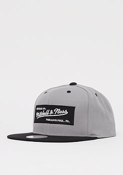 Mitchell & Ness Box Logo Snap bedrock grey