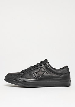 Converse One Star Ox triple black/glattleder