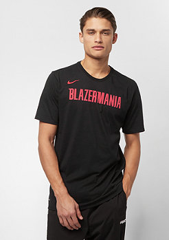 NIKE basketball NBA Portland Trail Blazers Dry ES black