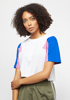 Urban Classics Ladies 3-Tone Short Oversize Tee white/brightblue/coolpink