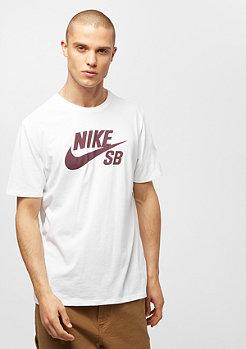 NIKE SB SB Logo white/white/burgundy crush