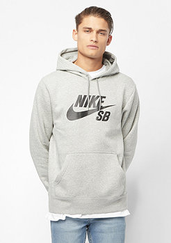 NIKE SB M NK SB ICON HOODIE PO ESSNL dk grey heather/black