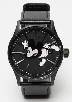 Nixon Sentry Leather all black / Mickey