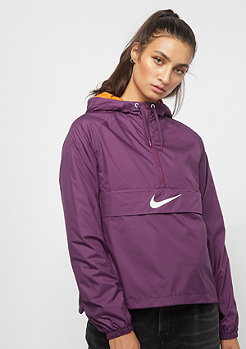 NIKE NSW Swoosh Jacket Packable bordeaux/white