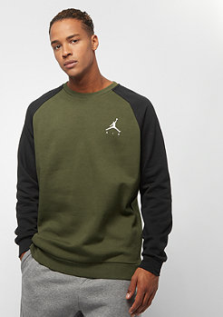 JORDAN Jumpman Fleece Crew olive canvas black white