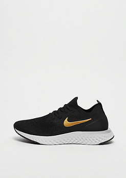 NIKE Running Epic React Flyknit black/metallic gold-metallic platinum