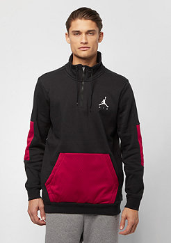 JORDAN Jumpman Hybrid Fleece 1/4 Zip black gym red white