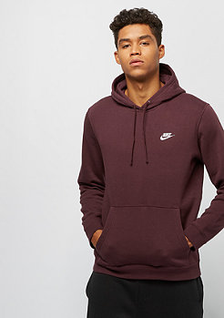 NIKE Club Swoosh burgundy crush/burgundy crush/white