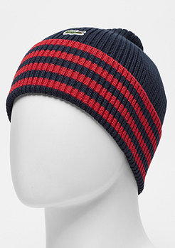 Lacoste Men knitted Cap 0Y5 navy blue/lighthouse red