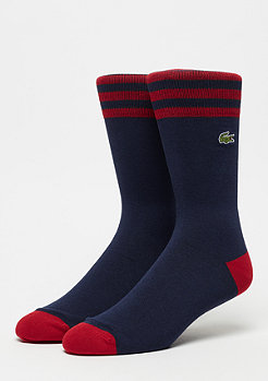 Lacoste Men Socks 045 navyblue/ lighthouse red