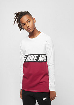 NIKE B NSW TEE LS white/red crush