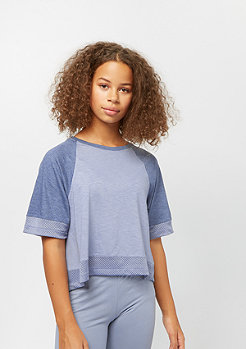 NIKE Junior SW SS CROP ashen slate/diffused blue/htr/lava glow