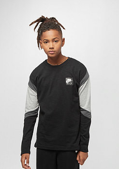 NIKE Junior AIR TOP LS black/dk grey heather/anthracite