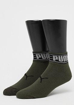 Puma Quarter 2P Logo Welt olive green/black