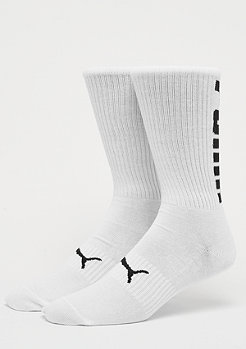 Puma Big Logo Crew Sock 2P white/black