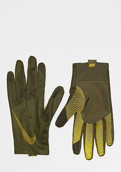 NIKE Pro Warm Liner Gloves olive canvas/yellow ochre/olive flak