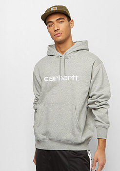 Carhartt WIP Hooded Carhartt Sweatshirt  grey heather/white