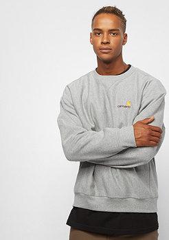 Carhartt WIP American Script Sweatshirt grey heather