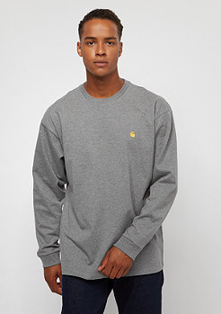 Carhartt WIP L/S Chase dark grey heather /gold
