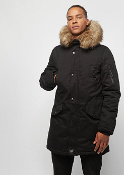 Sixth June Parka With Fur black beige
