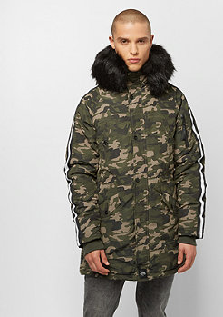 Sixth June Parka with Fur camo black