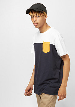 Urban Classics 3-Tone Pocket navy/white/c.yellow
