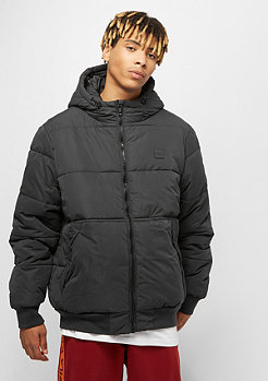 Urban Classics Hooded Peach Puffer black