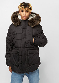 Urban Classics Hooded Faux Fur black