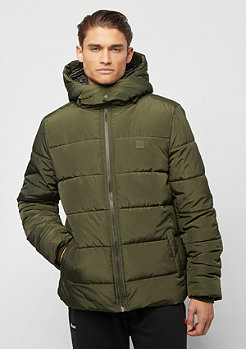 Urban Classics Hooded Puffer Jacket darkolive