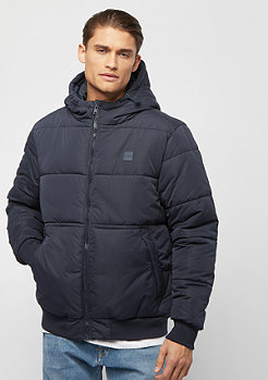Urban Classics Hooded Peach Puffer navy